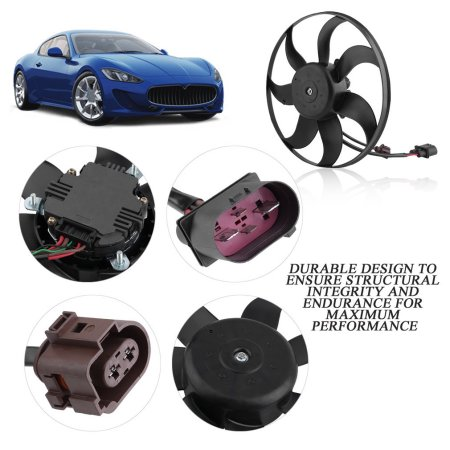 High Performance Radiator Cooling Fan Driver Side Practical Motor