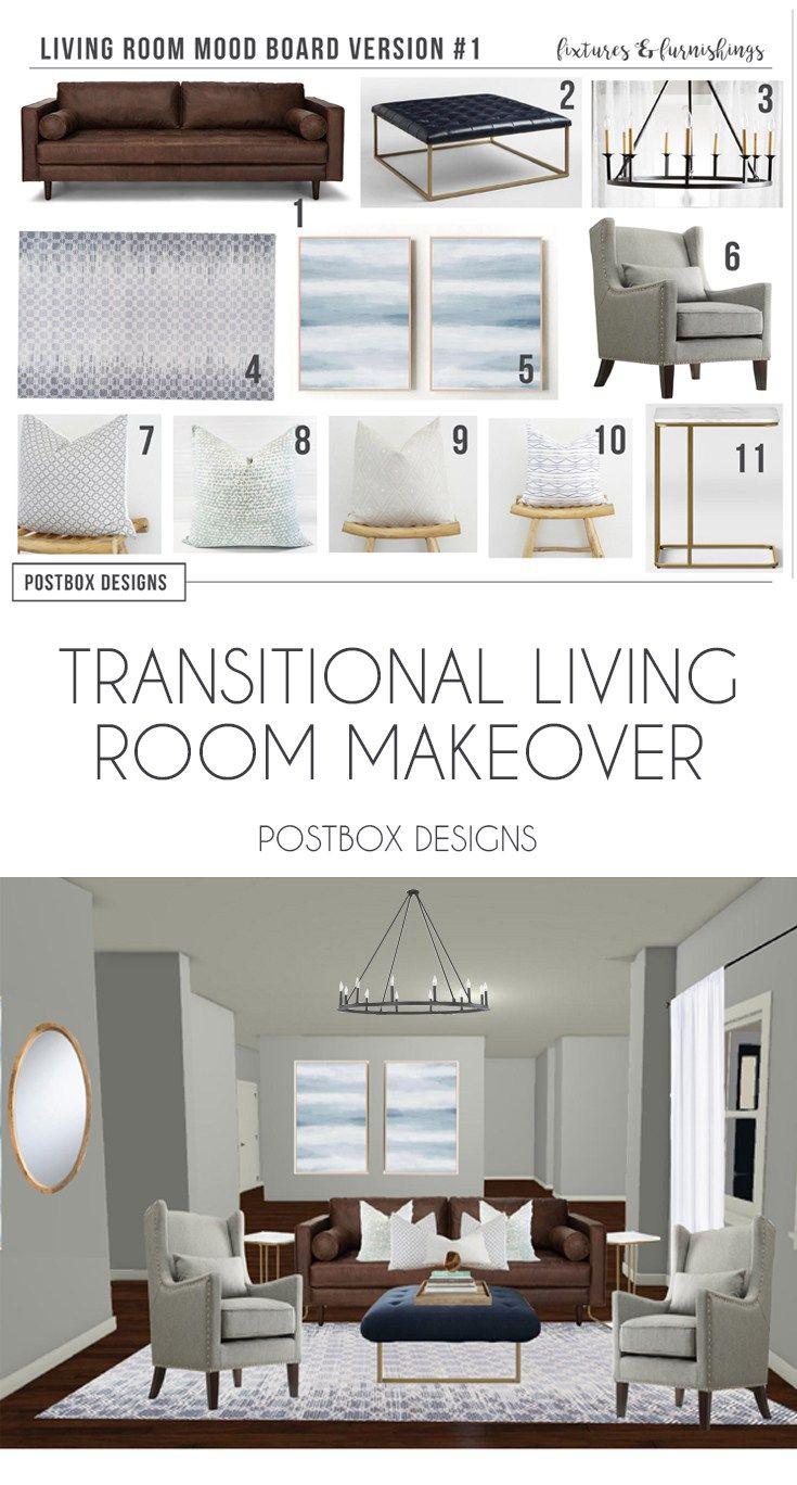 Superior Postbox Designs Interior E Design: Transitional Living Room Design, Neutral  Family Room Makeover