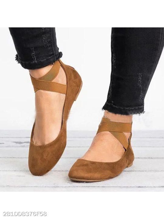 9e2b80d9a6b Plain Flat Velvet Ankle Strap Round Toe Basic Date Comfort Flats -  berrylook.com