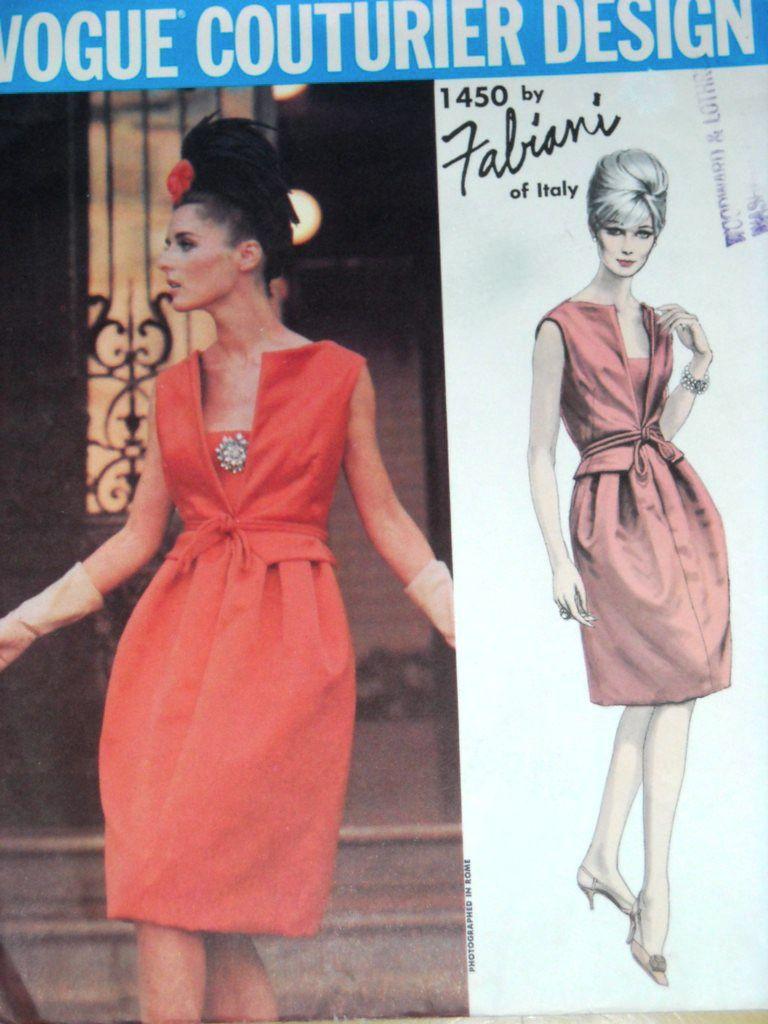 Vogue Couturier 1450 by Fabiani (1965) | robe des Antilles | Pinterest