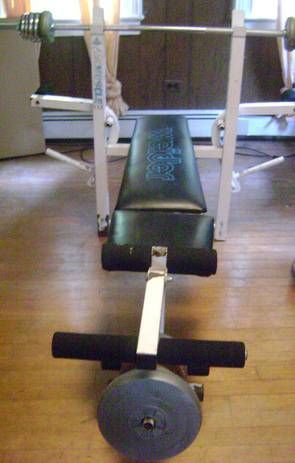 Weider Weight Bench And Accessories In 2ndhand Heaven S Yard Sale In Newark Nj For 50 00 Weight Bench With Weight Bar And Yard Sale Weight Benches Home Gym