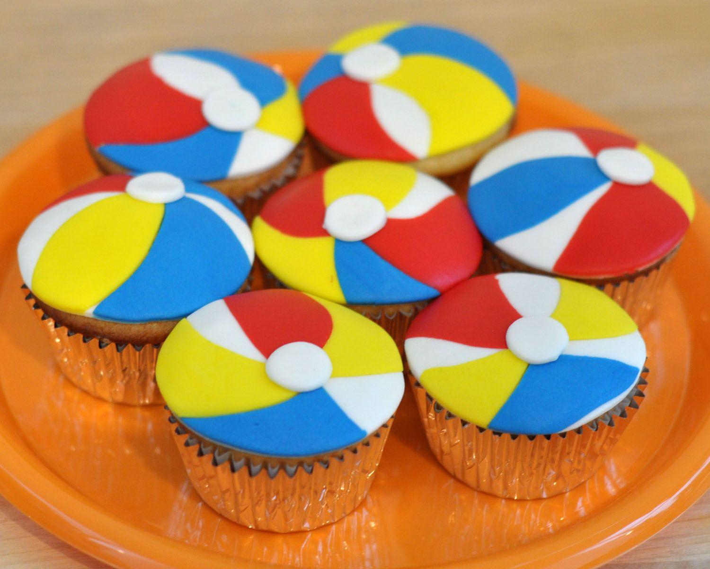 Beki Cook S Cake Blog Beach Ball Cupcakes Beach Ball Cupcakes