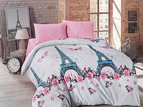 Paris Romance Theme Luxury Polycotton Duvet Covers Quilt Covers Bedding Set
