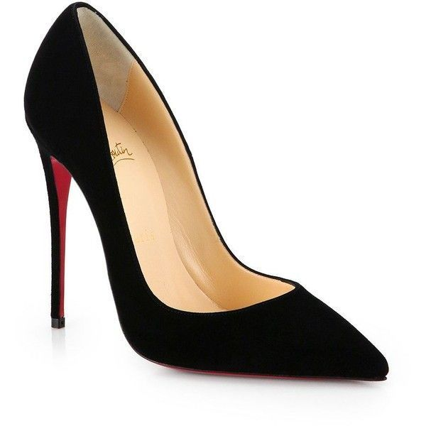 Christian Louboutin Pointed-Toe Suede Pumps buy cheap authentic footlocker online ZuOpi