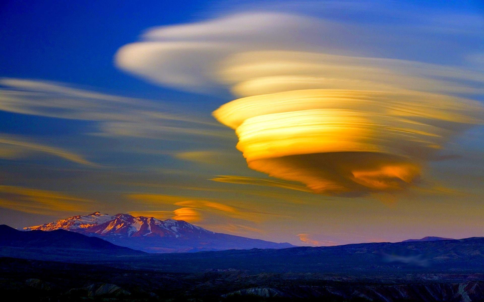 nubes lenticulares -