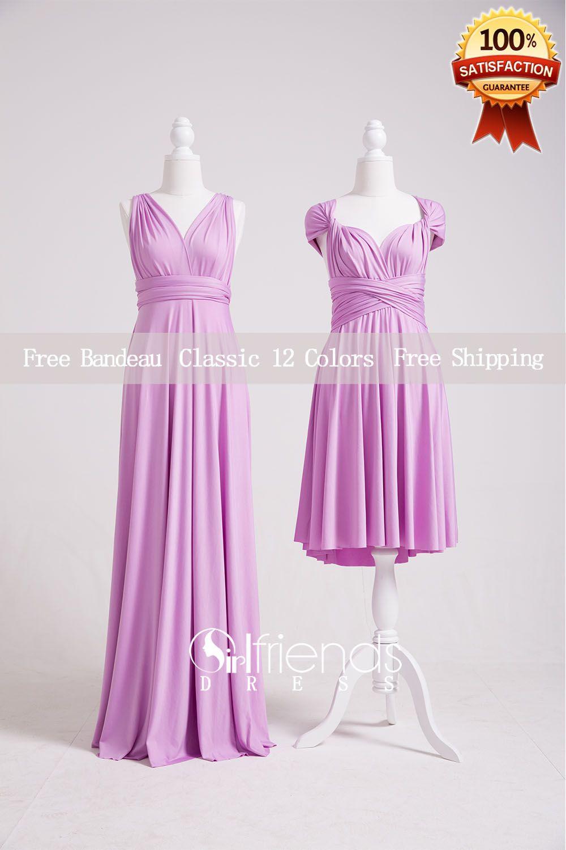 Lavender Bridesmaid Dresses,Convertible Bridesmaid Dress Long ...