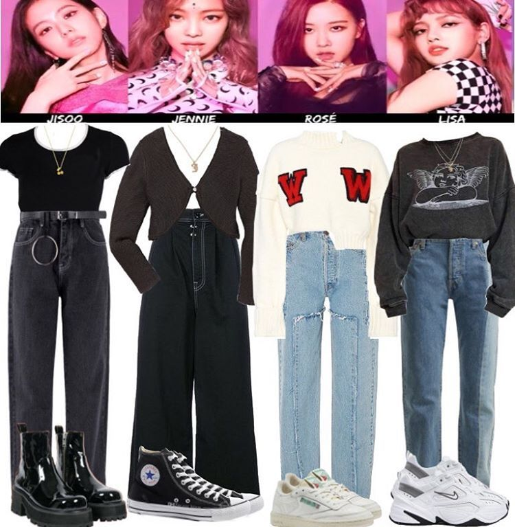 Kpop Stylist V Instagram Lol This Kinda Flopped But Anyway Blackpink Airport Outfits Based On Their Style Kpop Fashion Outfits Stage Outfits Kpop Outfits