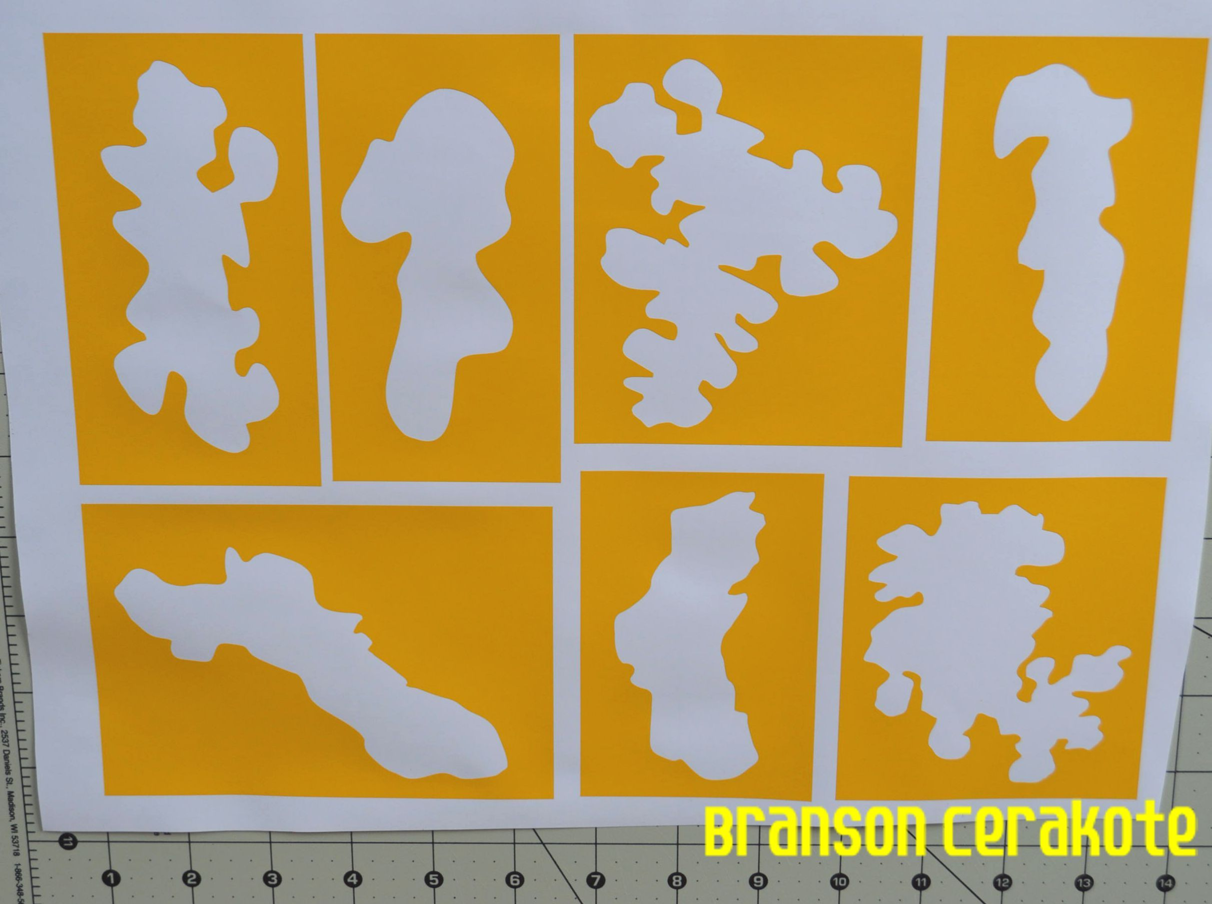 Rifle Woodland Camo Female Vinyl Stencil. We have this stencil and ...