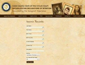 Cook County Illinois Naturalization Index Online Sassy Jane Genealogy Genealogy Websites Genealogy Family History