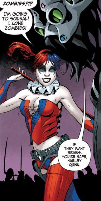 Harley Quinn skirt   What the hell is going over at DC comics~?