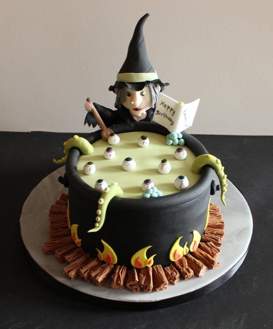 18 Hauntingly Beautiful Halloween Cake Ideas Halloween birthday