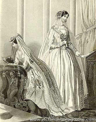Two Victorian Wedding Dresses From September 1850