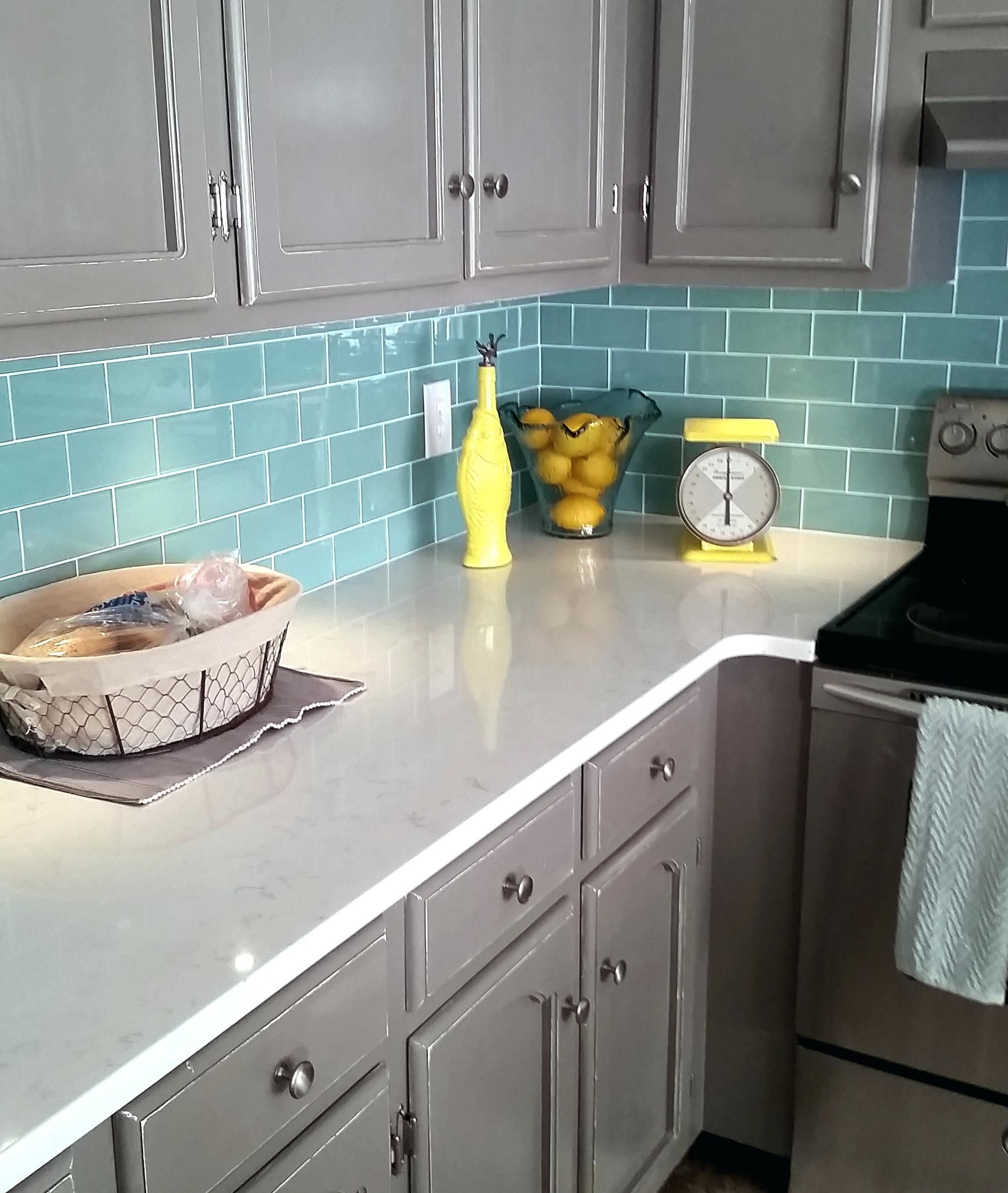 sea glass tile backsplash ideas ceramic tile kitchen subway diagonal ...
