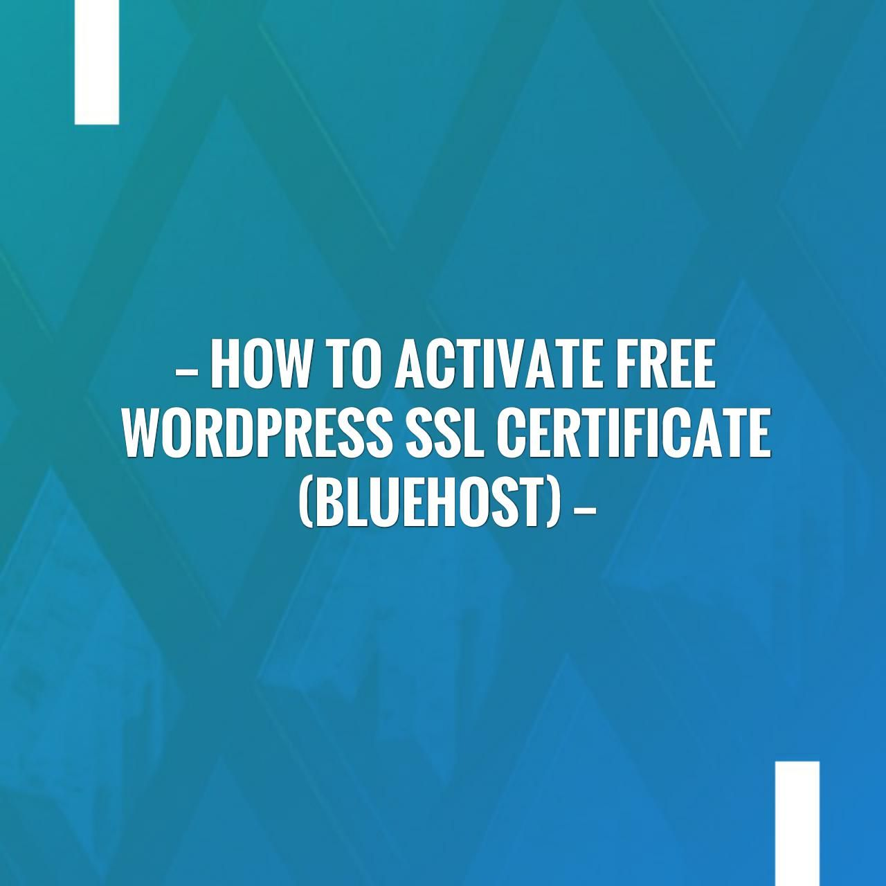How to activate free wordpress ssl certificate bluehost http how to activate free wordpress ssl certificate bluehost httpfeedproxy xflitez Choice Image
