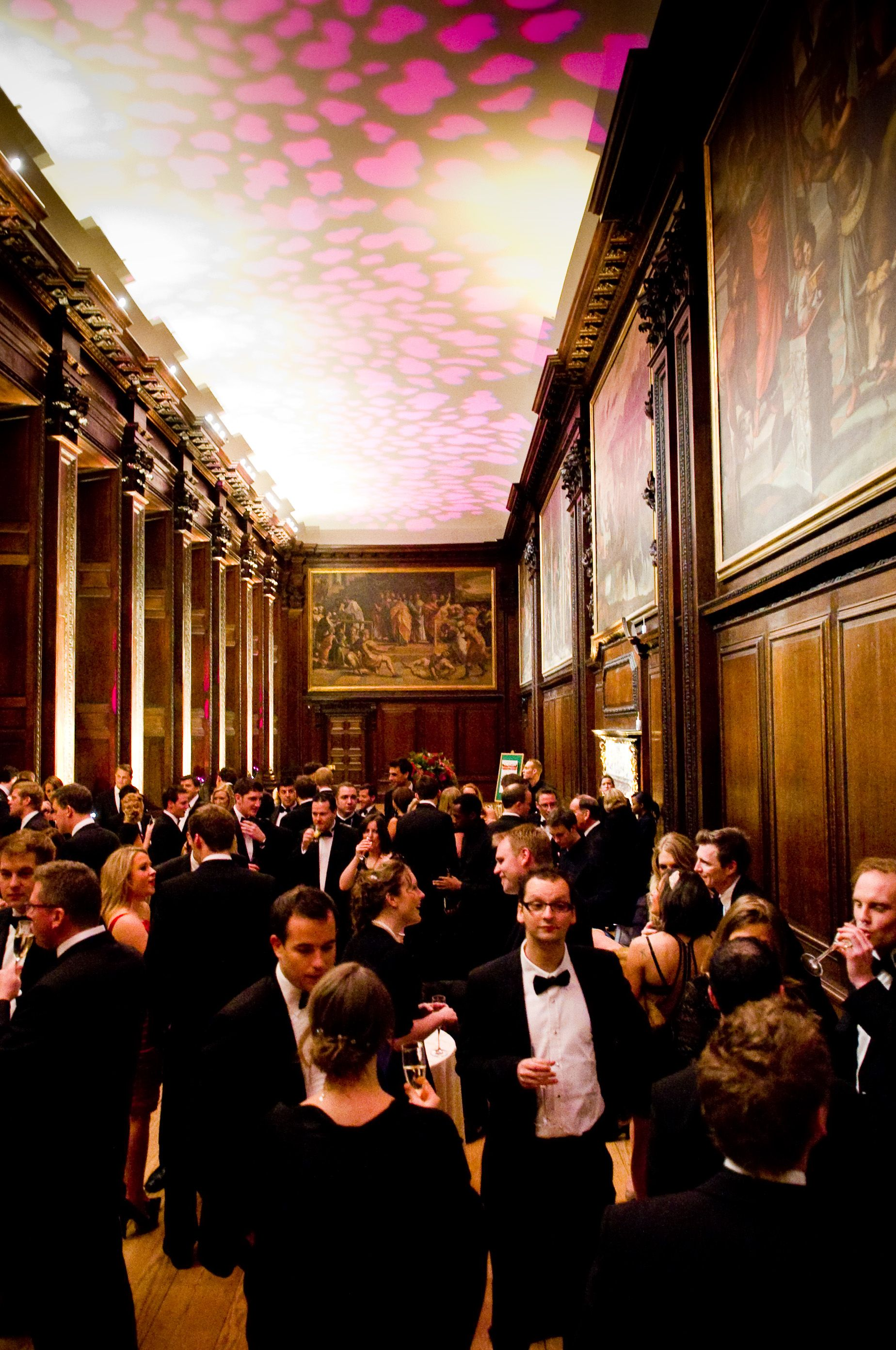 Hampton court palace drinks reception in the cartoon gallery