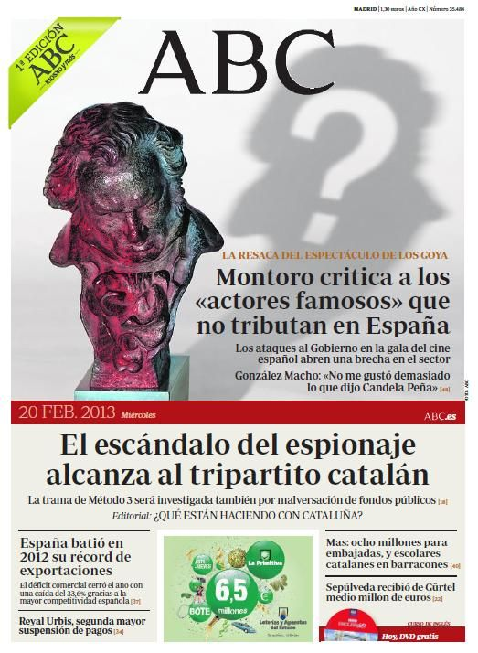 Portada 20 Febrero Portadas Newspaper Design Newspaper Y Magazine