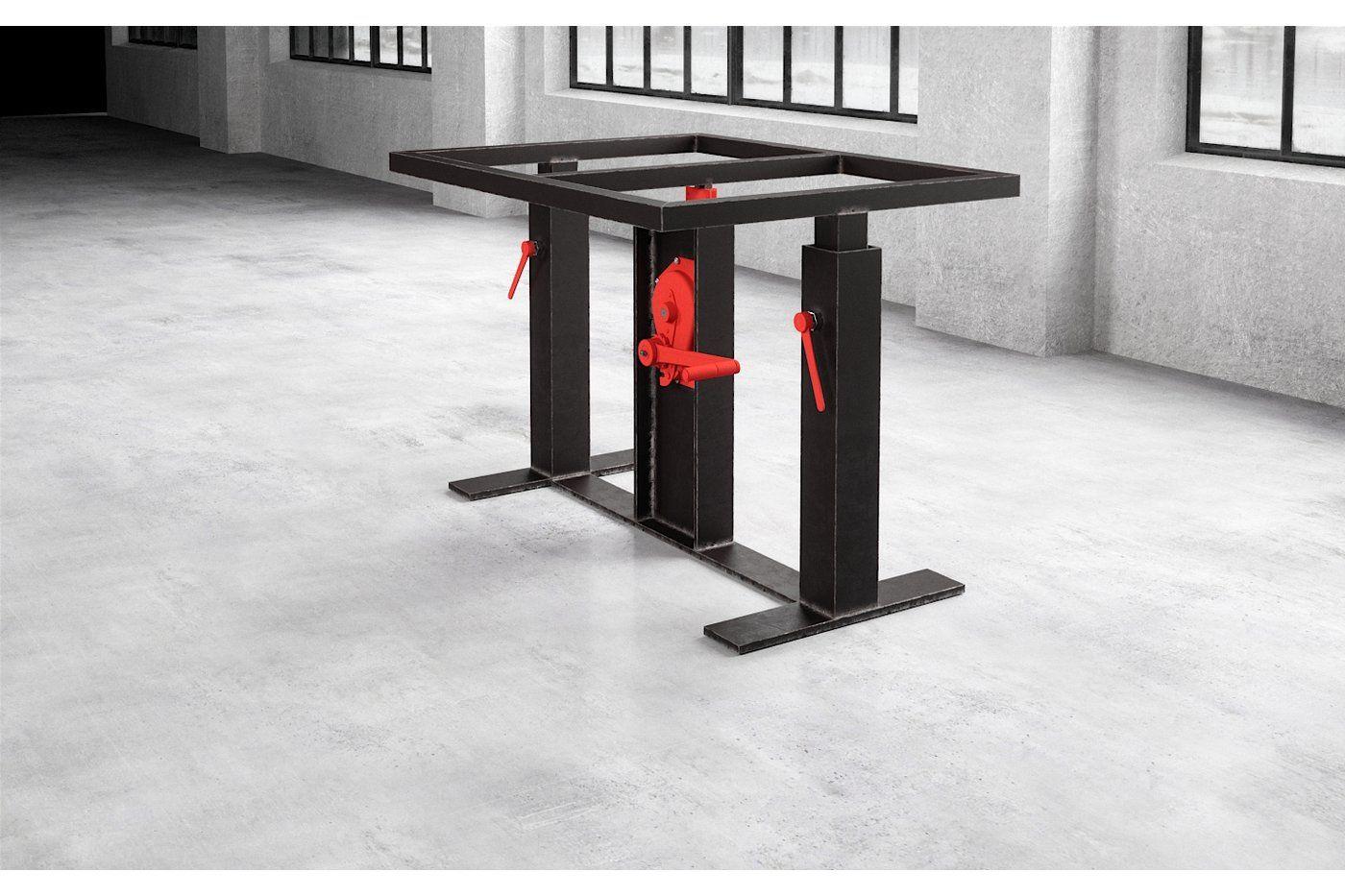 Stahl Esstisch Untergestell Compus Hohenverstellbar Haus Deko