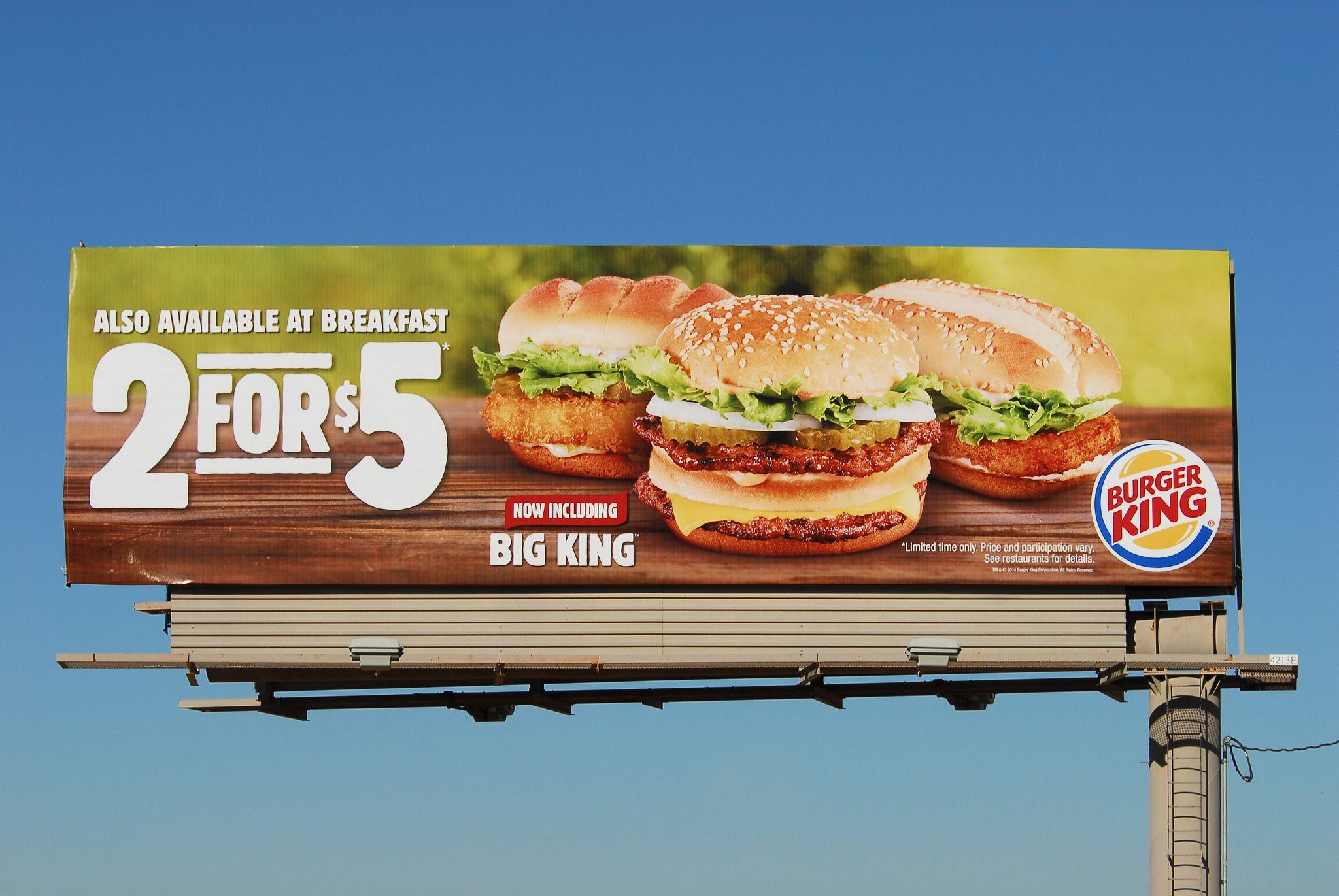 Burger King Billboard Santan Freeway Loop 202 Chandler Az