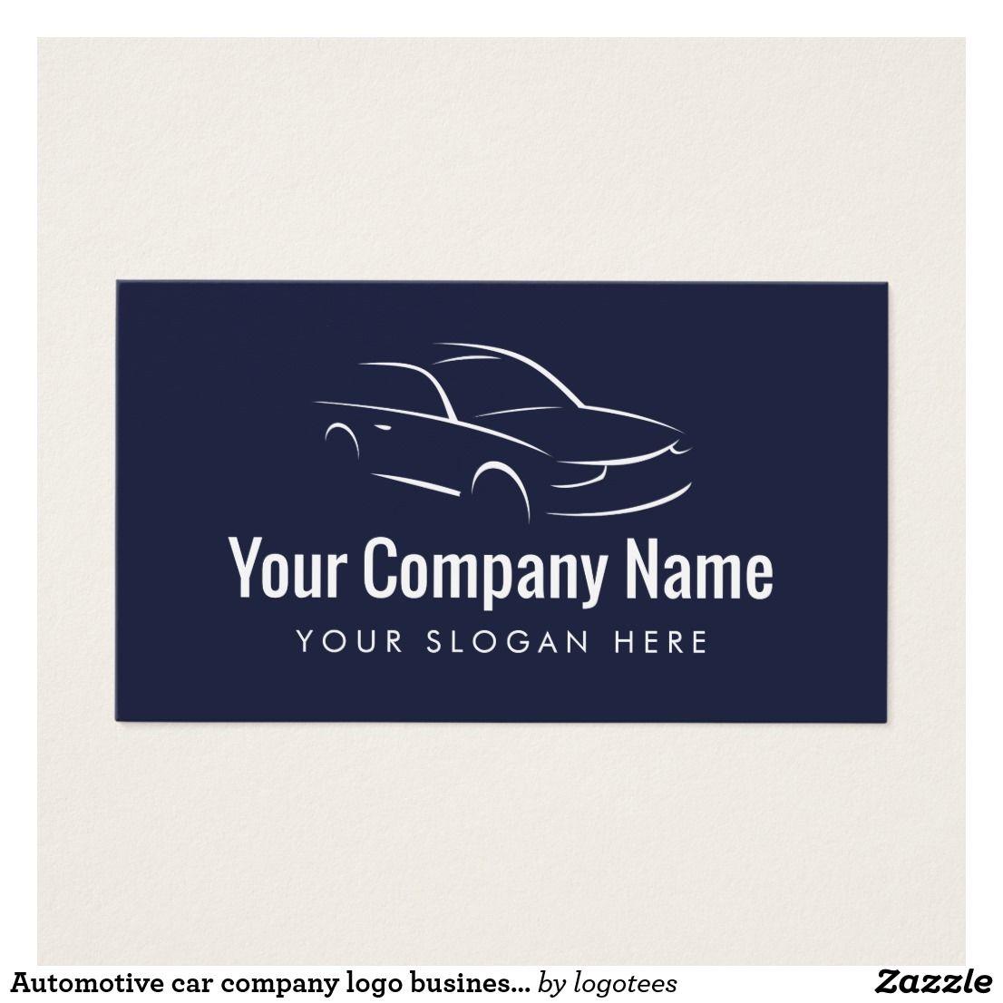 Automotive car company logo business card template | Company logo ...
