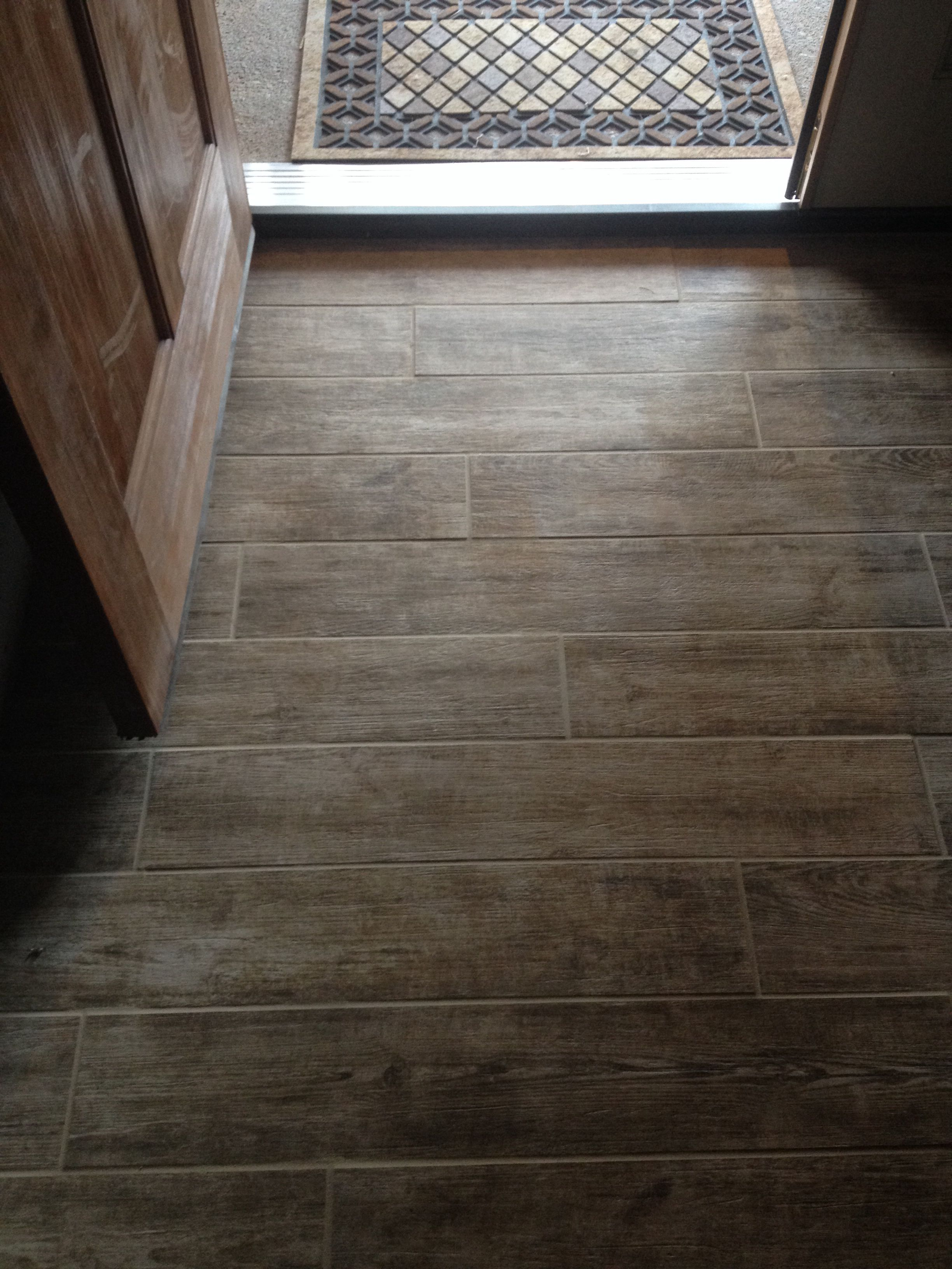 Barn Wood Porcelain Entry Tile Creative Flooring Entry Tile Kitchen Addition