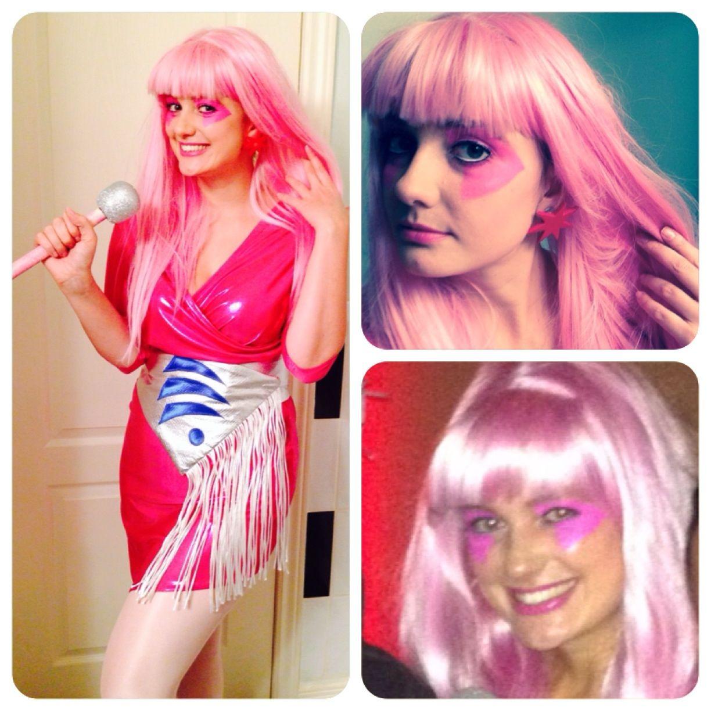 Jem Jem And The Holograms Halloween Costume Cosplay Pink Hair Jem Make Up Diy Pink Hair Jem And The Holograms Halloween Hologram