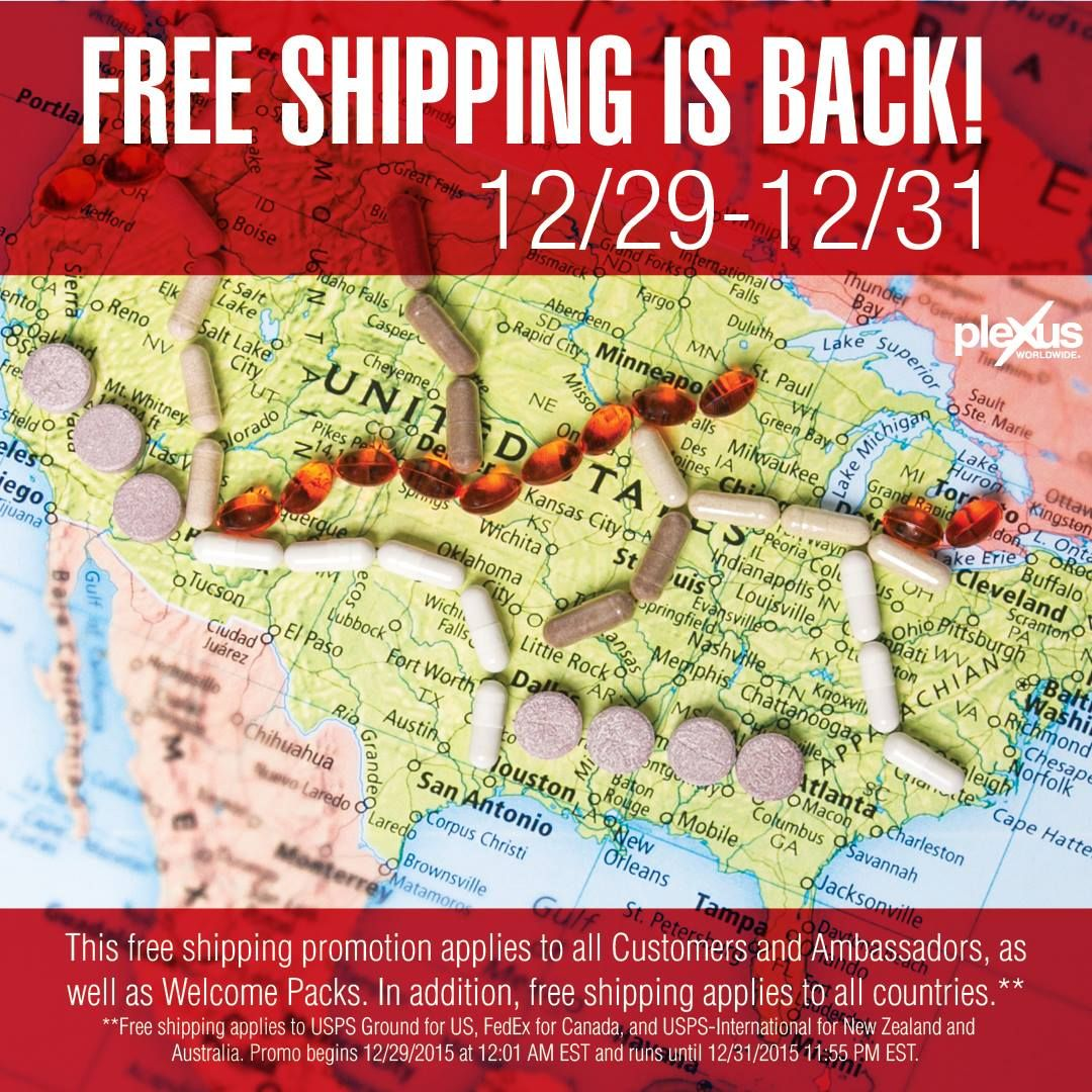 Free Shipping to start the New Year!