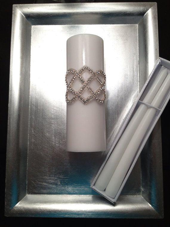 Irish Celtic Love Knot Wedding Unity Candles by Engagedbrides