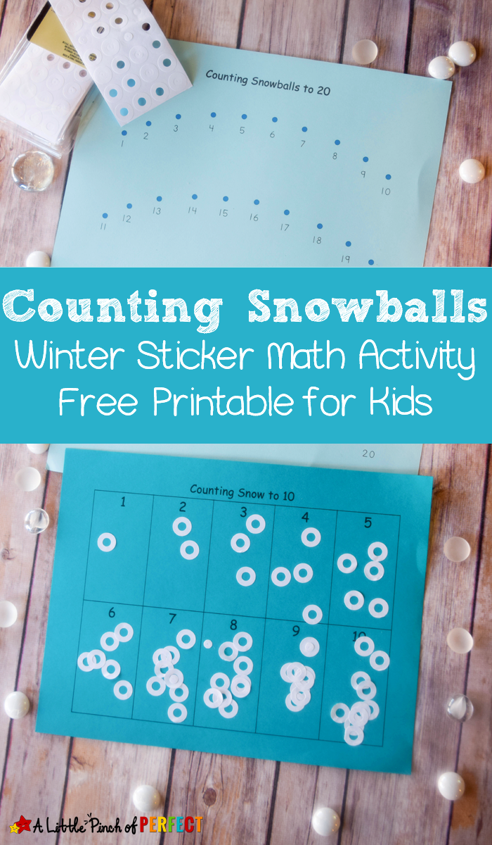 Counting Snowballs: Sticker Math Activity and Free Printable for ...