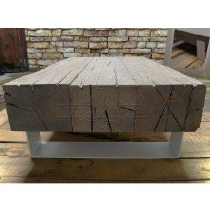 tavolino-da-salotto-con-travi-di-legno-massello-invecchiato-e-gambe ...