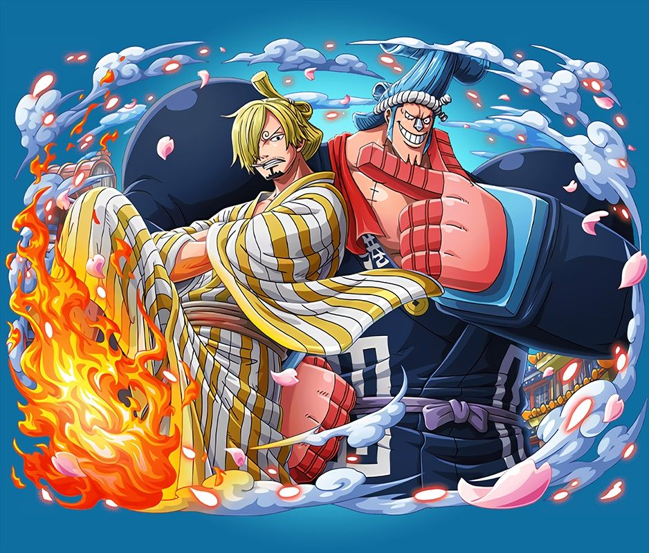 Sanji And Franky Wano One Piece Poster By Two Piece One Piece Comic One Piece Anime Anime Drawings One piece wano live wallpaper