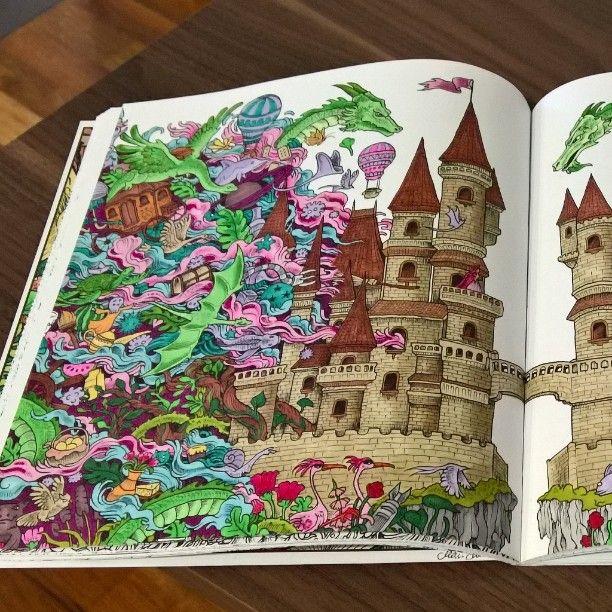 #imagimorphia #kerbyrosanes #colouringbook #promarker #tusseillaväritetty #värityskirja #värittelyä