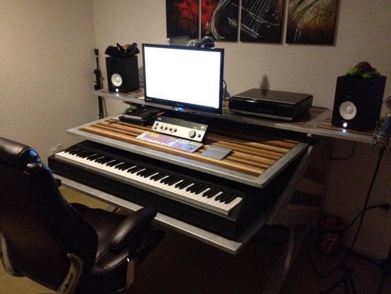 custom editing desk studio handmade a v audio video. Black Bedroom Furniture Sets. Home Design Ideas