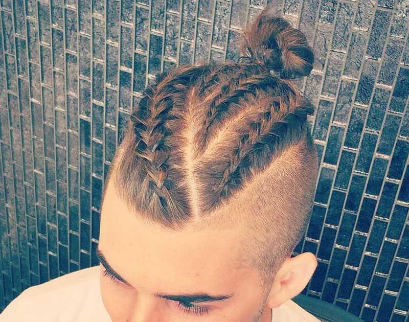 15 Best Man Bun Undercut Hairstyles Men S Hairstyle Tips Viking Hair Braided Bun Hairstyles Hair Styles