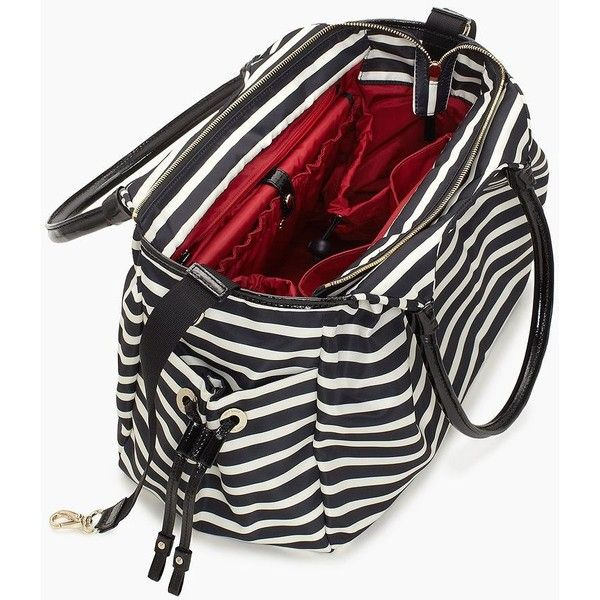 Kate Spade Nylon Stripe Stevie Baby Bag 418 Liked On Polyvore