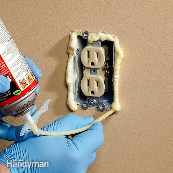 Outlet Insulation Stops Cold Air Coming Through Electrical ...