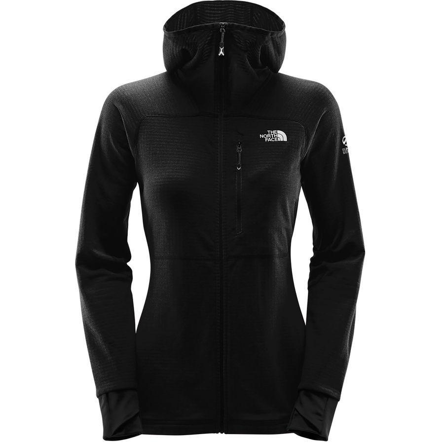 The North Face Summit L2 Proprius Grid Fleece Hooded Jacket Women S Tnf Black Fleece Hoodie The North Face Womens Fleece [ 900 x 900 Pixel ]