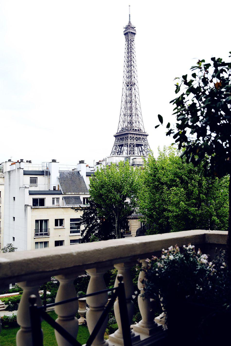 View from balcony, Shangri-La Hotel, Paris, France