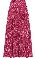 Saloni Laila Printed Silkcrepe Maxi Skirt - Lyst