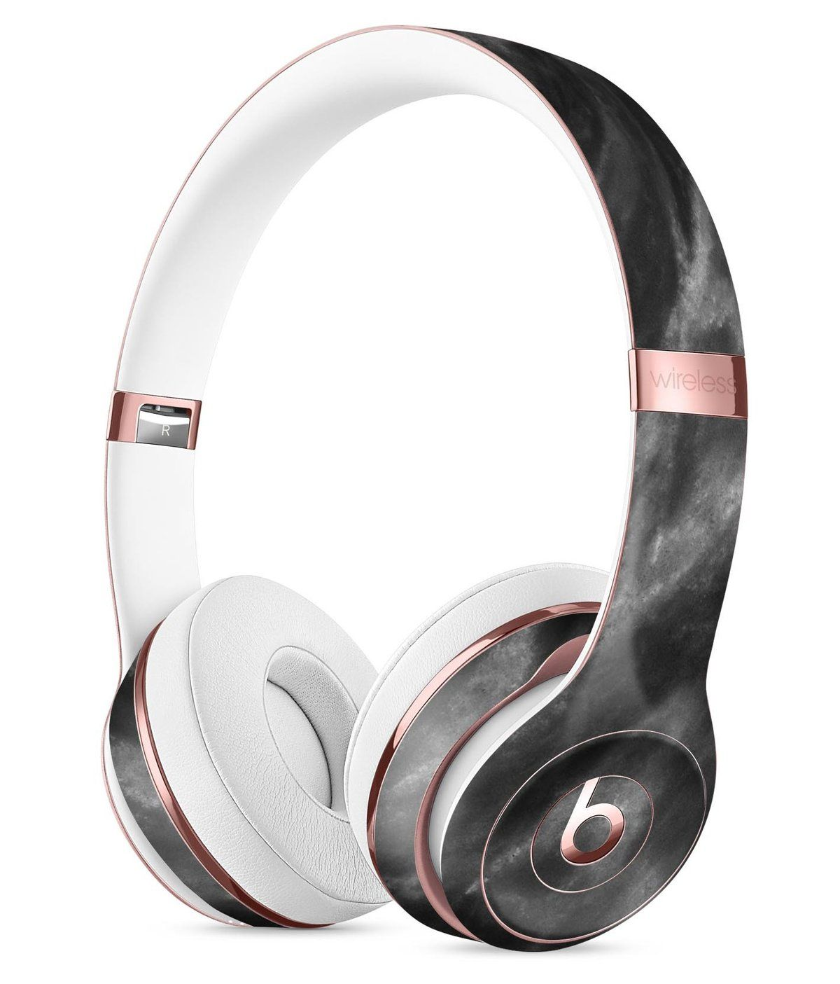 Black And Chalky White Marble Full Body Skin Kit For The Beats By Dre Solo 3 Wireless Headphones Wireless Headphones Beats By Dre Headphones