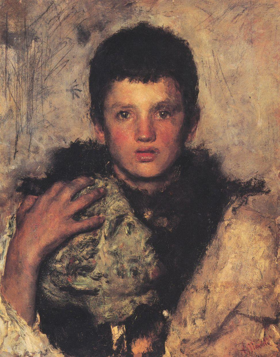 File:Antonio Mancini (attrib.) - Ritratto di una ragazza.jpg ...