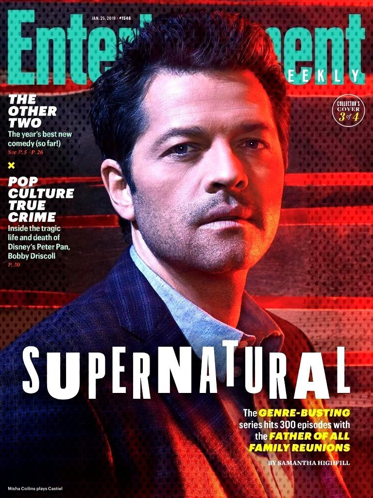 Misha Collins on EW Cover : Supernatural stars take you behind the scenes in exclusive EW portraits