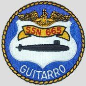 USS Guitarro (SSN-665) USS Guitarro (SSN-665), a Sturgeon-class submarine, was the second ship of the United States Navy to be named for the guitarro, a ray of the guitarfish family. Guitarro was decommissioned on 29 May 1992 and stricken from the Naval Vessel Register the same day. Her scrapping via the Nuclear-Powered Ship and Submarine Recycling Program at Puget Sound Naval Shipyard in Bremerton, Washington, was completed on 18 October 1994