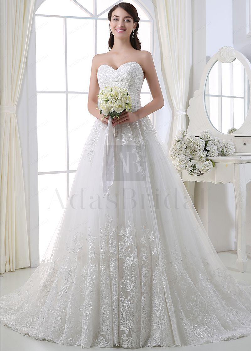 Buy discount elegant tulle sweetheart neckline ball gown