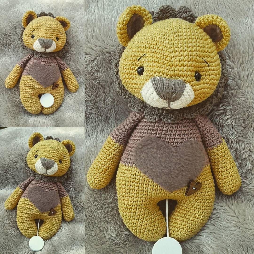 Leo Löwe für @bartsch_lisa pattern @amalou.designs #crochetlove ...
