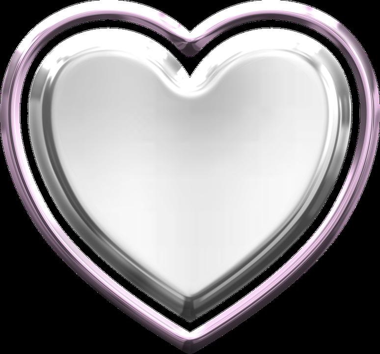 Heart, Metallic, Valentine, Love, Metal, Silver