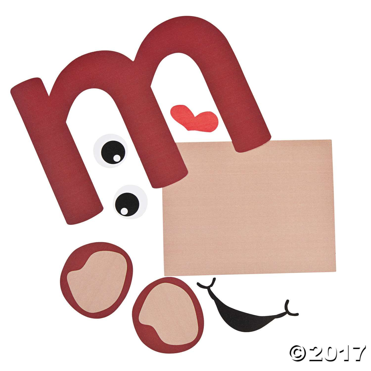 M Is For Monkey Lowercase Letter M Craft Kit Perfect