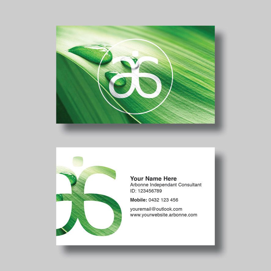 Arbonne Business Card Leaf Digital Design Arbonne by Tina Voss