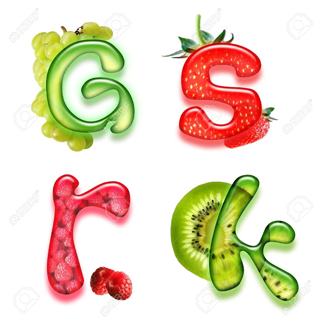 Fruit Letter Styles - Google Search