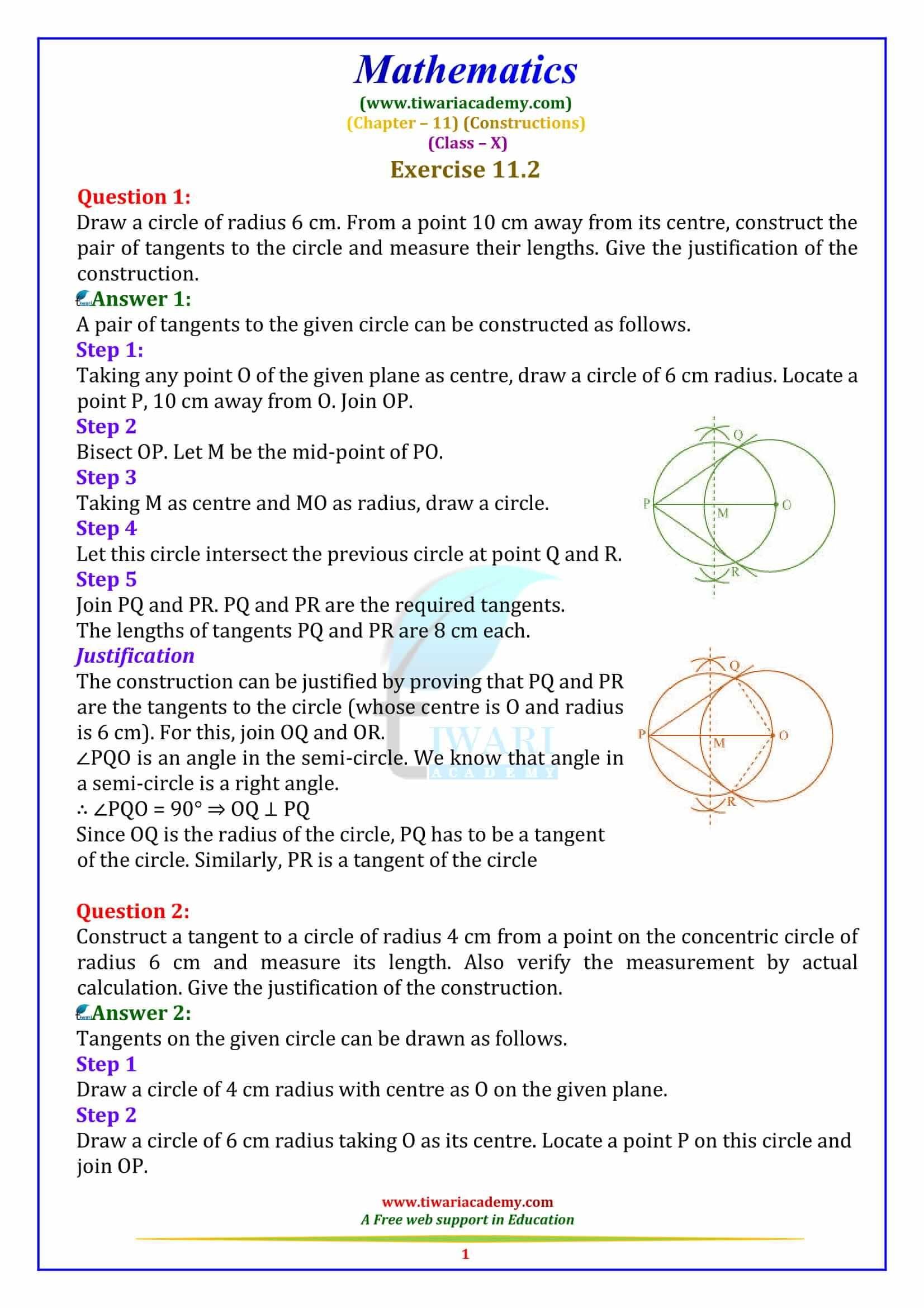 Constructions For Class 10 Maths Solutions Math Math Formulas [ 2339 x 1653 Pixel ]