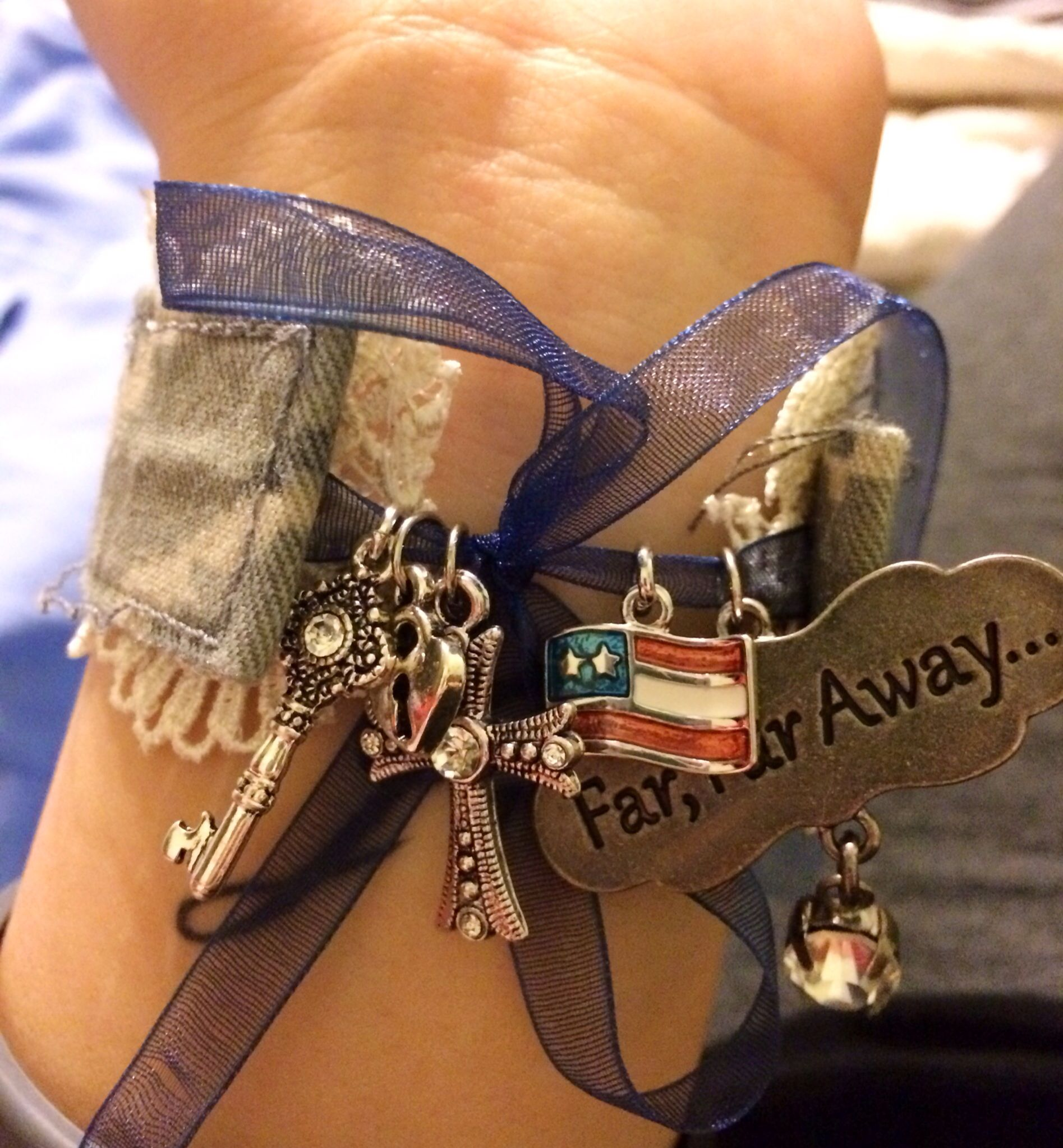 Military name tape bracelet. Air Force. Air Force